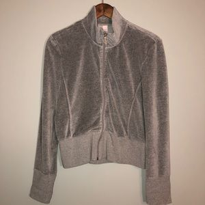 Victoria's Secret Grey Velour Soft ZIP Up Jacket